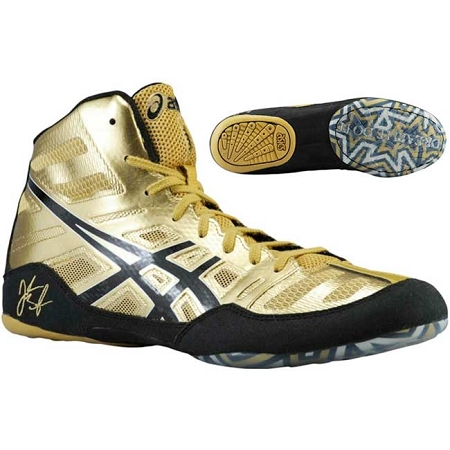 JB Elite Wrestling Shoe - Oly. Gold/Black/White