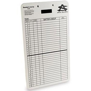 Athletic Specialties Baseball Line Up Dry Erase Clipboard
