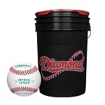 Diamond D-OB Leather Baseball and Bucket Combo