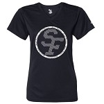 St. Francis Ladies V-neck Tee (Circle Logo)
