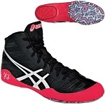 Asics JB Elite Wrestling Shoe - Black/Silver/Red