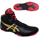 Asics JB Elite V2.0 Wrestling Shoe - Black/Oly. Gold/Red